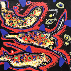 Soly Cisse- Poissons gALERIE cHAUVY